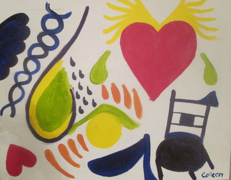 King of my Heart. Acrylic abstract. Calgary